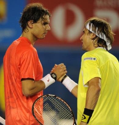 Ferrer đã gặp may khi Nadal không có cơ hội thể hiện phong độ tốt nhất.