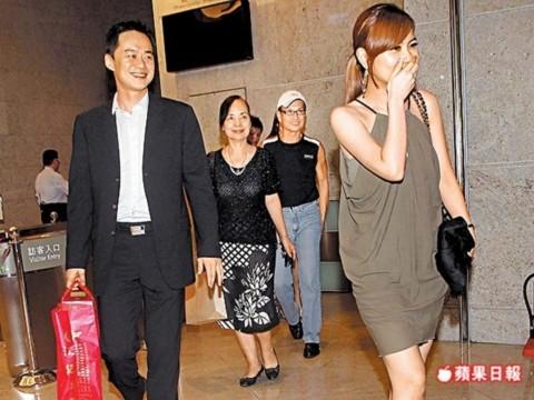 Selina và chồng chưa cưới Trương Thành Trung. Ảnh: baidu.