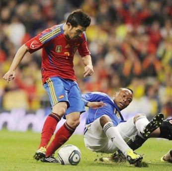 David Villa đã gây bất ngờ cho người hâm mộ.