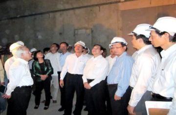 Hầm vượt sông Sài Gòn đã hoàn thành 90%