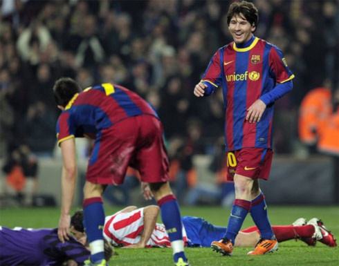 Messi đang vào độ thăng hoa rực rỡ và đủ sức khuất phục mọi hàng thủ. Ảnh: AFP.