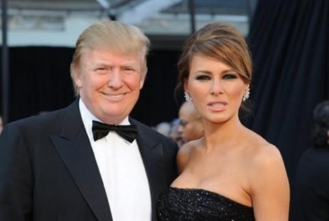 Donald Trump và vợ Melania cũng đến dự giải Oscar.
