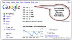 Một số cách chuyển đổi tỉ giá ngoại tệ với Google