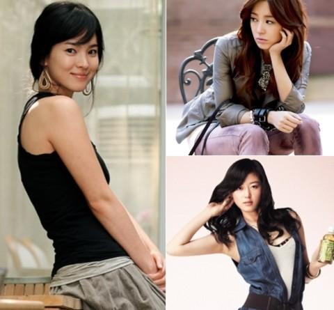 (Trái sang, trên dưới) Song Hye Kyo, Yoon Eun Hye, Jun Ji Hyun.