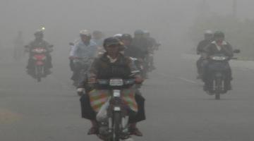 Sương mù bao phủ các tỉnh miền Tây