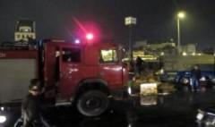 Xe chở giấy bốc cháy trên cầu Chương Dương