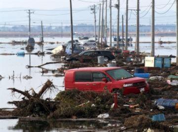 Cảnh đổ nát ở nơi sóng thần 10 mét ập tới
