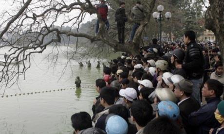 Cụ rùa Hồ Gươm nổi bật trên báo nước ngoài