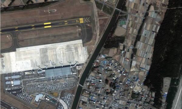 Hình ảnh trước-sau động đất ở Nhật từ Google Map