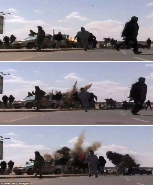 Kinh hoàng cảnh nã đạn, dội bom ác liệt ở Libya