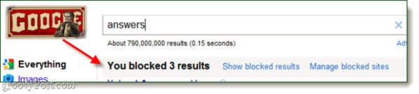 Ngăn chặn những kết quả tìm kiếm không hữu ích từ tài khoản Google