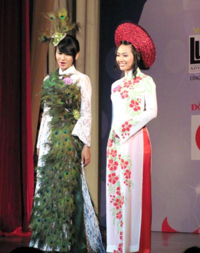 Đêm chung kết diễn ra với 3 nội dung thi: Trang phục áo dài, dạ hội và tài năng.
