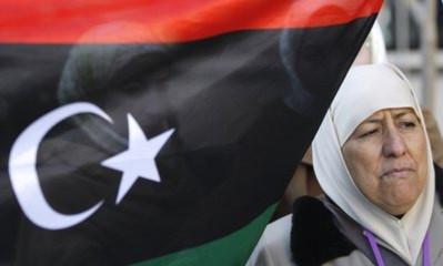 Người biểu tình phản đối Gadhafi. Ảnh: AP.