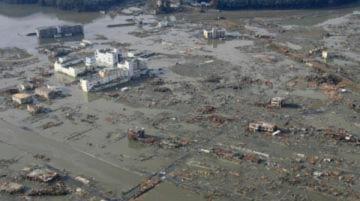 Thảm họa tại Nhật nhìn từ trên cao