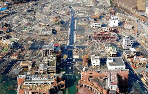 Cảnh hoang tàn tại thành phố. Ảnh: AFP