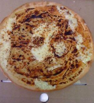 Chúa Giêsu hiện hình trên bánh pizza