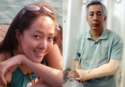 Á hậu Nguyên Khánh và cha
