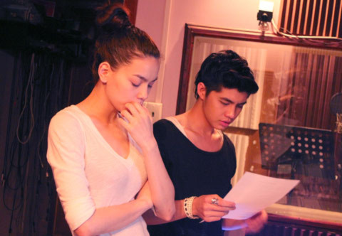 Hồ Ngọc Hà và Noo Phước Thịnh cùng nhau luyện tập cho liveshow sắp tới. Ảnh: QC