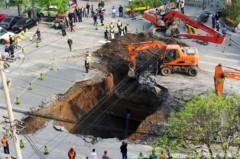 Hố tử thần đột ngột xuất hiện tại Bắc Kinh
