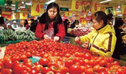 Tháng 3, chỉ số giá tiêu dùng của Trung Quốc lên mức 5,3%. Ảnh: Chinadaily