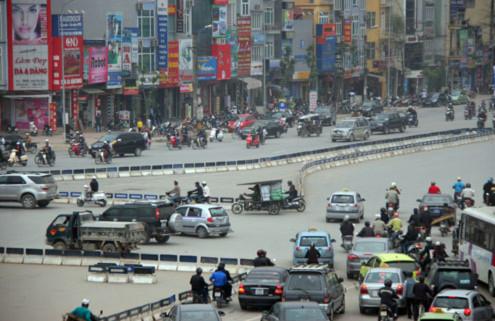 Đầu đường Nguyễn Trãi (hướng Ngã Tư Sở)...