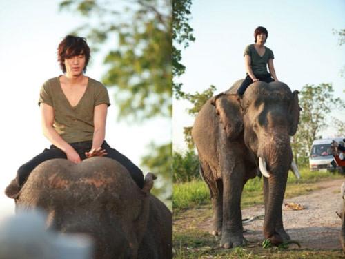 """Lee Min Ho cưỡi voi - Ngắm """"Bạch mã hoàng tử"""" của Yoon Eun Hye"""
