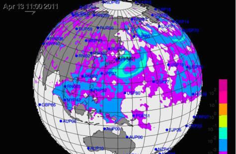 Mây phóng xạ bao trùm Đông Nam Á