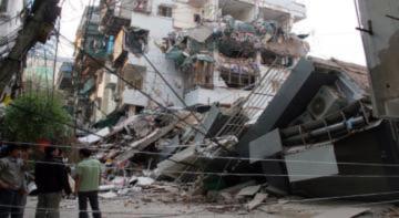 Nhà 5 tầng sập có thể do bị phá vỡ kết cấu