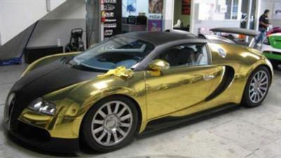 Top 10 xe được phủ vàng xa xỉ nhất thế giới