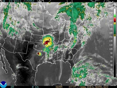 Khu vực chịu lốc xoáy ở Mỹ. Đồ họa: AFP.