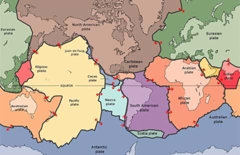 Bằng chứng hai mảng lục địa đang tách nhau