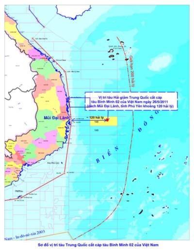 Cắt cáp dầu khí Việt Nam, Trung Quốc nói là bình thường!