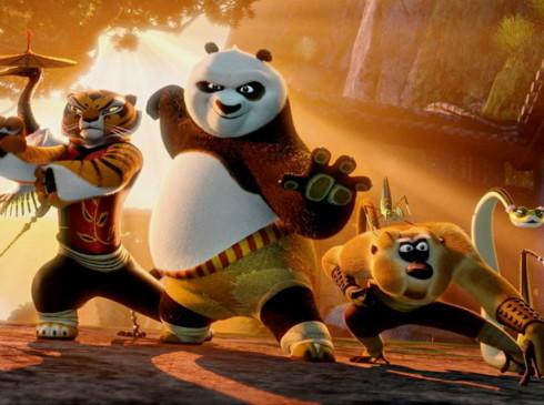 Po và nhóm Ngũ đại hiệp trong phần hai. Ảnh: DreamWorks.