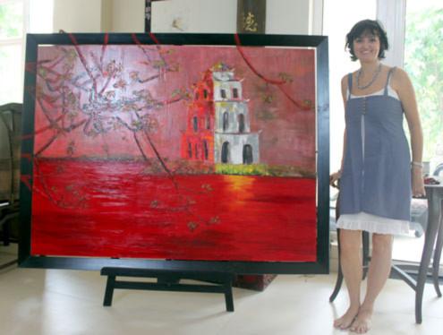 Nữ họa sĩ Pháp cho biết, chị đã đặt chân đến nhiều vùng miền ở Việt Nam để tìm cảm hứng sáng tác.