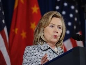 Hà Hillary Clinton phát biểu tại phiên khai mạc Đối thoại Chiến lược kinh tế Mỹ-Trung (Nguồn: AFP
