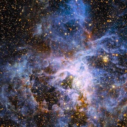 Những nghiên cứu mới nhất về tinh vân Tarantula, thông qua những hình ảnh do kính thiên văn khổng lồ European Southern Observatory gửi về cho thấy rằng, trong tinh vân này tồn tại một ngôi sao sáng hơn 150 so với Mặt trời của chúng ta.