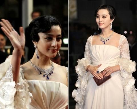 Nữ diễn viên tiếp tục tỏa sáng với bộ váy trắng cầu kỳ trong buổi ra mắt phim