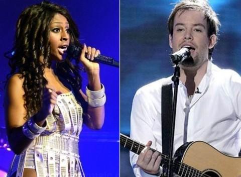 Alexandra Burke và David Cook, hai thần tượng âm nhạc Anh và Mỹ sắp đến Việt Nam. Ảnh: