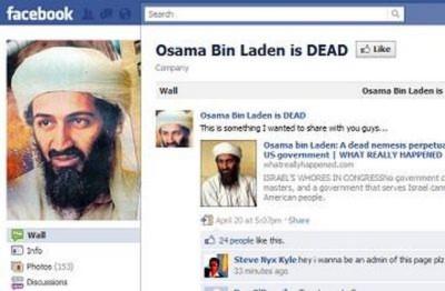"""Trang Facebook """"Bin Laden đã chết"""" trở thành hiện tượng Internet"""