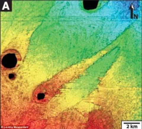 Các nhà nghiên cứu đã phát hiện ra sự tương đồng giữa địa hình sao Hỏa và những gò đất dưới đáy biển dọc bờ biển Trinidad, Mỹ