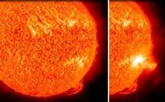 """""""Bão lửa"""" từ mặt trời đe dọa trái đất"""