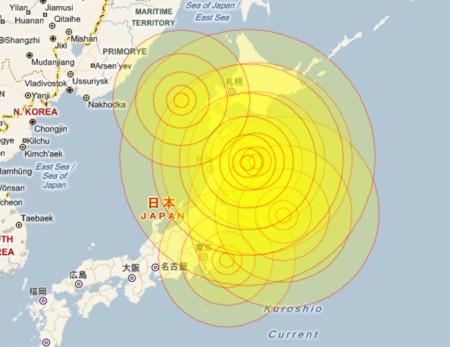 Các trận động đất liên tục xảy ra tại Nhật Bản trong 24 giờ qua. Đồ họa: Myforecast