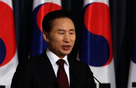 Tổng thống Hàn Quốc Lee Myung-bak. Ảnh: Topnews