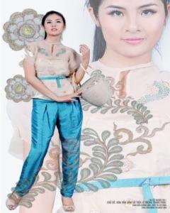 Hoa hậu Ngọc Hân làm đồ án tốt nghiệp