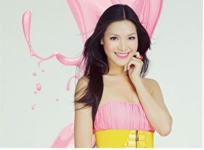 Hoa hậu Thùy Dung bay bổng sắc hồng