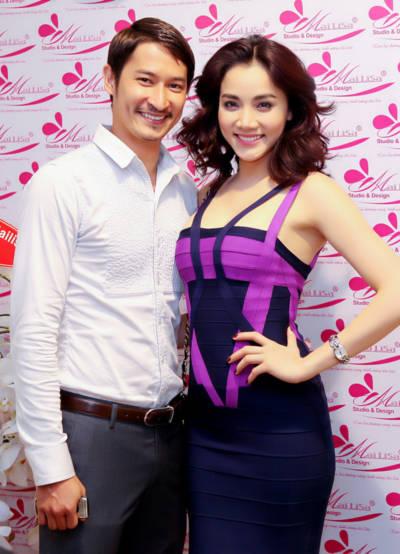 Trang Nhung và Huy Khánh tạo thành một đôi đẹp mắt thu hút ánh nhìn của mọi người.