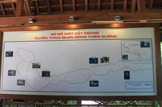 Được phát hiện năm 2005, động Thiên Đường vừa được đưa vào hoạt động tháng 9/2010. Theo Hiệp hội nghiên cứu hang động Hoàng gia Anh quốc, động có chiều dài 31,4 km, chiều rộng dao động từ 30 đến 100m, nơi rộng nhất 150m, chiều cao từ đáy lên trần động khoảng 60m.