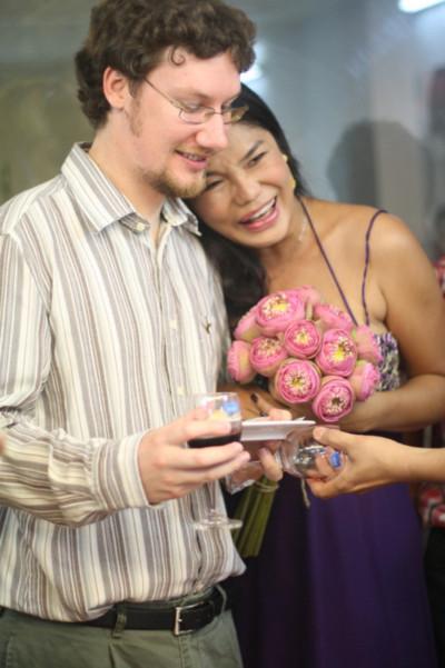 Cindy Thái Tài và người bạn trai của mình.