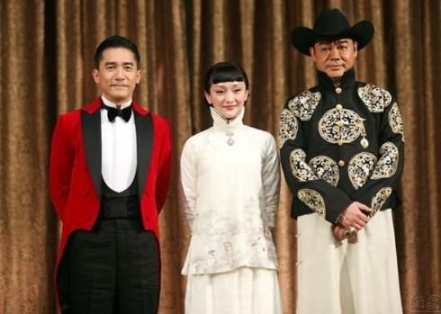 Ba diễn viên chính Lương Triều Vỹ, Châu Tấn, Lưu Thanh Vân.