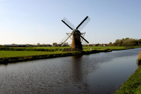 Hà Lan và biểu tượng cối xay gió.